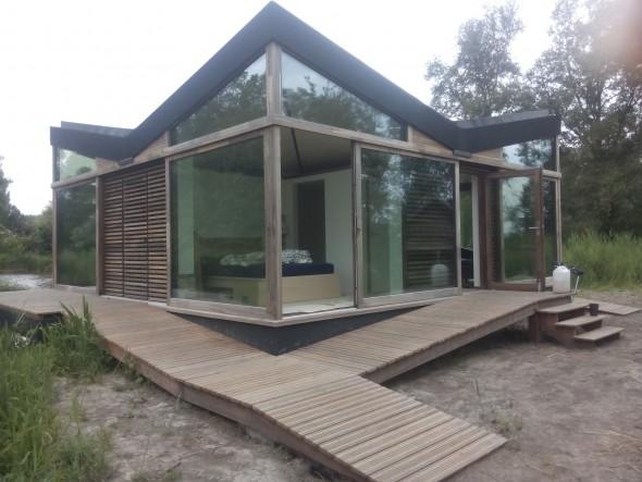 ROBUUST architectuur project MOERZEKE vakantiewoning slaapkamer