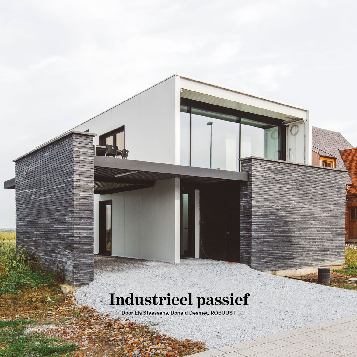 Woning houthulst als voorbeeld voor betaalbaar passief for Staalbouw woningen