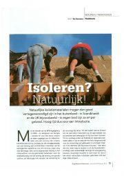 artikel Els Staessens in bouwen / renoveren isoleren? natuurlijk